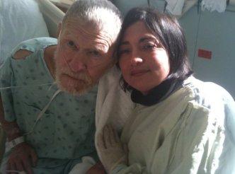 Dad and I at VA Hospice January 2011
